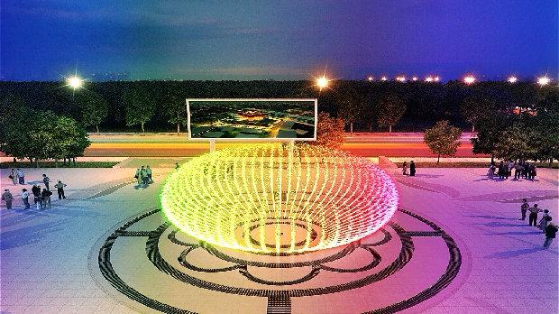 喷泉设计效果图